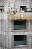 konstruktionshissarbetare Arkivfoton