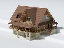 konstruktionshus royaltyfri illustrationer