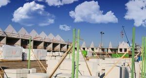 konstruktionshus under Arkivbild
