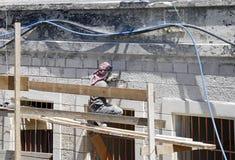 konstruktionsjerusalem arbetare Royaltyfria Bilder