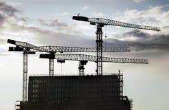 konstruktionskranar Fotografering för Bildbyråer