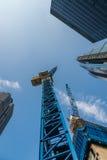 Konstruktionskranar i London Royaltyfria Foton