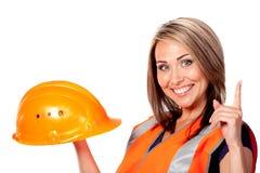 konstruktionskvinna Royaltyfri Fotografi