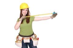 konstruktionskvinna Arkivbild