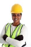 konstruktionskvinnaarbetare Arkivbild