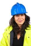 konstruktionskvinnligarbetare Royaltyfria Foton