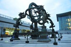 konstruktionslandskap stads- shanghai Royaltyfria Bilder