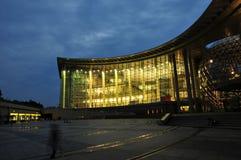 konstruktionslandskap stads- shanghai Fotografering för Bildbyråer
