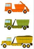 Konstruktionslastbiluppsättning. vektor illustrationer