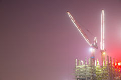 Konstruktionslokal på natten Royaltyfria Bilder