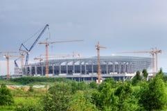 konstruktionslviv stadion ukraine royaltyfria bilder