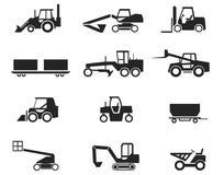 konstruktionsmaskineri royaltyfri illustrationer