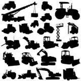 konstruktionsmaskinvektor stock illustrationer