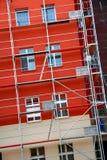 konstruktionsmaterial till byggnadsställning Arkivfoton