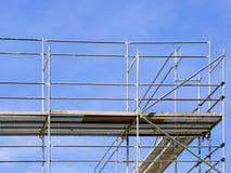konstruktionsmaterial till byggnadsställning Fotografering för Bildbyråer