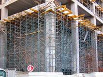 Konstruktionsmaterial till byggnadsställning Royaltyfria Bilder