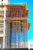Konstruktionsmaterial till byggnadsställning Royaltyfri Foto