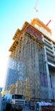 Konstruktionsmaterial till byggnadsställning Arkivbilder