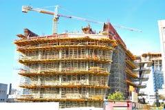 Konstruktionsmaterial till byggnadsställning Royaltyfri Fotografi