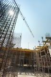 konstruktionsmaterial till byggnadsställninglokal Royaltyfri Foto