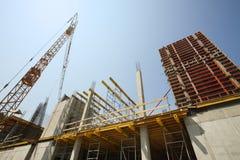 konstruktionsmaterial till byggnadsställninglokal Royaltyfri Bild