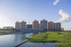 Konstruktionsområdesflod Royaltyfri Bild