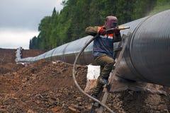 konstruktionspipelinetraktorer två Royaltyfri Foto