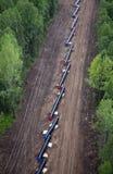 konstruktionspipelinetraktorer två Royaltyfria Bilder
