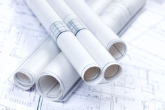 konstruktionsplan Arkivfoto
