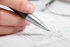 konstruktionsplan Royaltyfri Fotografi