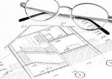 Konstruktionsplan Arkivfoton