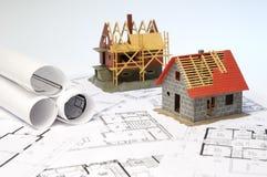 Konstruktionsplanläggning Arkivbild