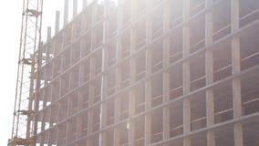 Konstruktionsplats stock video
