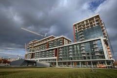 Konstruktionsplats av en modern andelshus Royaltyfria Foton