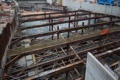Konstruktionsplats av Hong Kong Express Rail Royaltyfria Bilder