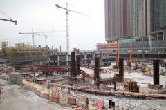 Konstruktionsplats av Hong Kong Express Rail Royaltyfri Bild