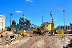 Konstruktionsplats i Berlin, Tyskland Arkivbilder