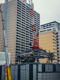 Konstruktionsplats i Tokyo Royaltyfria Bilder