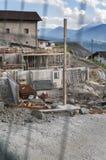 Konstruktionsplats nära den Merano lodlinjen Royaltyfria Foton