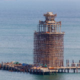 Konstruktionsplats på vatten Royaltyfria Foton