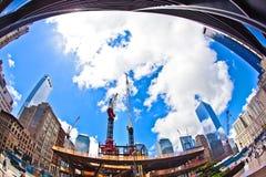 Konstruktionsplats på ground zero Royaltyfria Foton