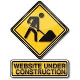 Konstruktionsplatsen och websiten är under konstruktion Arkivfoto