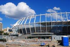 konstruktionsstadion under Arkivfoto