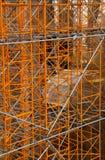 Konstruktionsstand - fungera på den Sagrada familiaen Arkivbild