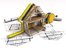 Konstruktionsstruktur Arkivbilder