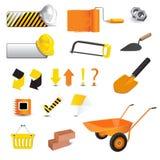 Konstruktionssymbol stock illustrationer