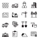 Konstruktionssymbol Set2 Arkivfoto