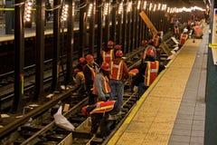 konstruktionstunnelbana Royaltyfri Bild