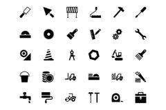 Konstruktionsvektorsymboler 3 Arkivbilder