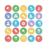 Konstruktionsvektorsymboler 3 Arkivbild